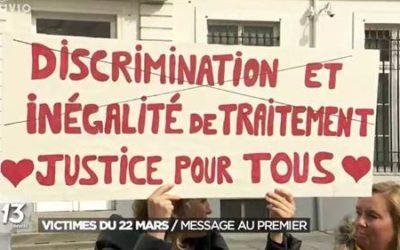 Manifestations pour les droits des victimes