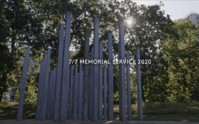 Commémorations des attentats de Londres du 7 juillet 2005 – mémorial dédié aux victimes