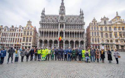 Hommage aux victimes à Bruxelles